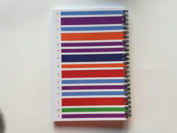 Notizbuch Farbstrichcode Susanne Wolfsohn Rückseite