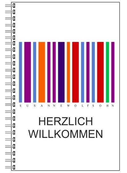 Notizblock Farbstrichkode Farbtherapie Wien